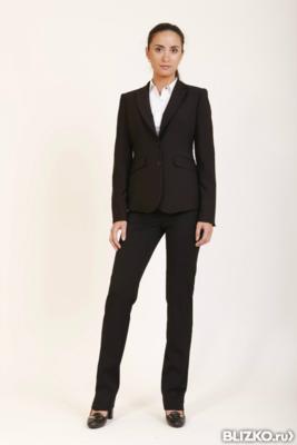Деловой черный костюм женский доставка