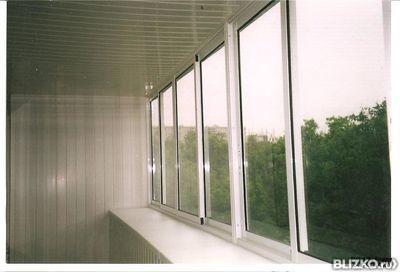 Остекление балкона, рама пвх однокамерный стеклопакет - ласт.