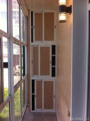 Встроенный шкаф на балкон в иркутске. цена товара 20 700 руб.