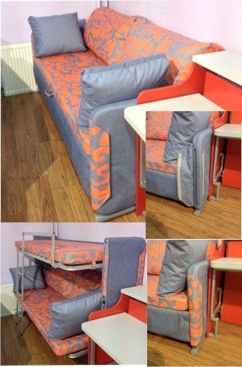 диван двухъярусная кровать трансформер от компании трансформируемая