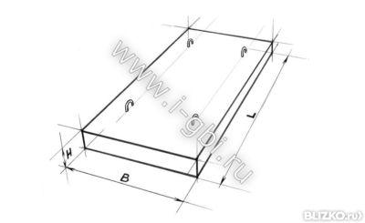 Плиты плоские перекрытия каналов железобетонный гараж размер
