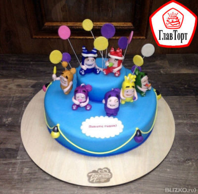 Детский торт на годик oddbods (телепузы f9fa73f1c10eb